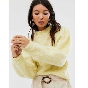 🆕 ASOS Design Fluffy Jumper with Balloon Sleeves